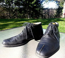 Sandro Moscoloni 10.5 D Black Nappa Leather Lace Up Chukka Boot RETAIL IS  $175