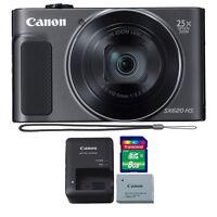 Canon PowerShot SX620 20.2MP HS Digital Camera (Black) + 8GB Memory Card