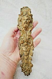 Antique X1 Large French Gilt Brass Face mount Furniture Fitting 1860s /1870s