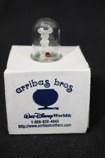 Arribas Bros Mickey Mouse Glass Figurine W/Ruby Heart In Dome