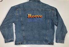 REEVE TRUCKING COMPANY Butterfield Stage XL Denim Jean Jacket Vintage