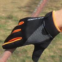 2Pcs Men Women Cycling Full Finger Gloves Touchscreen Breathable Summer Mittens