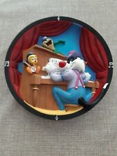 More details for warner bros 1999 looney tunes ragtime blues 3-d collectors plate preowned ltd ed
