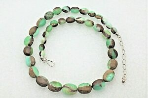 NEW 21 inch Australian Green Opal Necklace Chain REAL SOLID .925 Sterling Silver