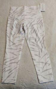Athleta Women's Salutation Stash Pocket II Zebra 7/8 Leggings SC4 White Medium
