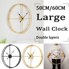 European Style Silent Wall Clock Modern 3D Design Home Decoration Hanging Watch