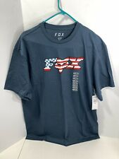 Men's FOX Racing Flag Head X Short Sleeve T-Shirt Blue Size X-Large, NEW w/Tags!