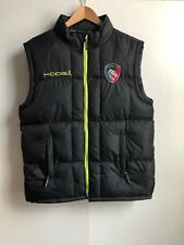 Kooga Leicester Tigers Rugby Men's Club Padded Gilet - Large - Black - New