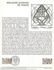 DOC. PHILATÉLIQUE - MEILLEURS OUVRIERS - 1977 YT 1952