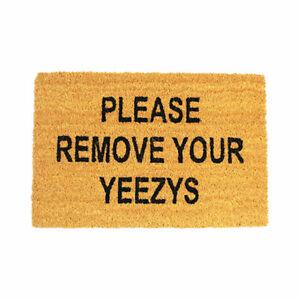 60 x 40 Coir Outdoor Doormat PVC Backing Home Please Remove Yeezys - UK