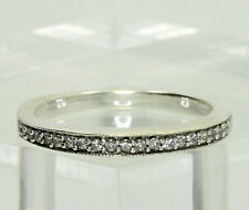 Arabella Sterling Silver Swarovski Zirconia Wedding Band Ring Size 675