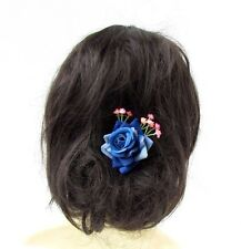 Blue Pink Rose Gypsophila Baby's Breath Flower Hair Pins Bridesmaid Bridal 2937