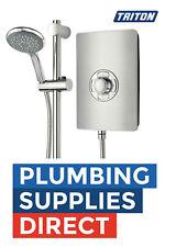 * Triton Aspirante 8.5kw Brushed Steel Electric Shower ASP08BRSTL