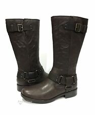 UGG DAMIEN RIDING BOOTS BROWN LEATHER WOMEN'S US SIZE 9 -NEW