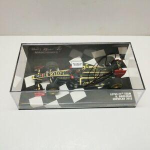 2012 Romain Grosjean signed MINICHAMPS Lotus Showcar Formula 1 F1 1/43 Resin