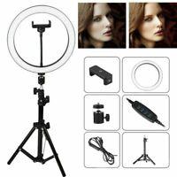 "10"" LED Ring Fill Light w/Stand & Mount Kit for Camera Phone Selfie Video Stream"