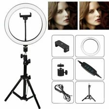 "10"" LED Ring Fill Light w/Stand & Mount Kit for Camera Phone Selfie Video Stream"