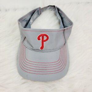 Philadelphia Phillies Unisex Visor by 47 Gray Silver Red Phillys Mens Womens Hat