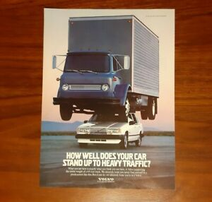 VOLVO MAGAZINE ADVERTISEMENT HOW WELL DOES YOUR CAR STAND UP PRINT AD