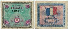 BILLET 10 FRANCS TYPE DRAPEAU 1944 SANS SERIE  10128652
