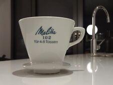 Melitta KAFFEE FILTER 102 (4 Loch) * Porzellan * für 4 bis 8 Tassen
