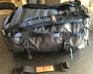 """North Face Base Camp Duffle Bag Small Navy 21""""x13""""x13"""" 50L Capacity Carry On"""