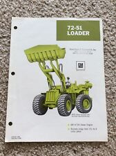 1968 Gm 72-51 Loader original factory printed sales handout