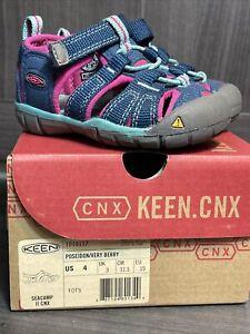KEEN Seacamp II CNX Waterproof Sandals Poseidon Berry 1014117 Toddler Size 4