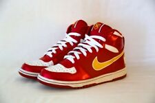 Nike Air High Tops Red & Gold - Lightly Used, Women's Size 8.5 (Men's/Youth 6.5)
