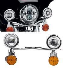 LED Passing Auxiliary Lighting Bracket Turn Signal Light Bar Fit Harley Davidson