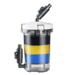 Aquarium Mini External Canister Per-Filter With Cotton Fish Tank Filter Barrel