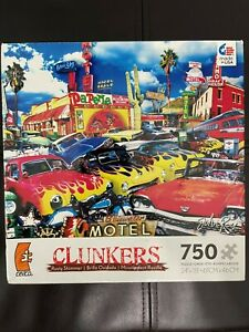 """Americana Texmexicana """"Clunkers"""" Rusty Shimmer by John Roy RARE 750 Piece Puzzle"""
