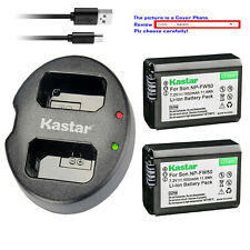 Kastar Battery Dual USB Charger for Sony NP-FW50 BC-VW1 Cyber-shot DSC-RX10 III