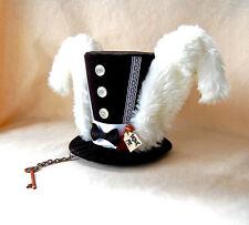 Welcome to Wonderland mini top hat facinator punk goth steam punk alice