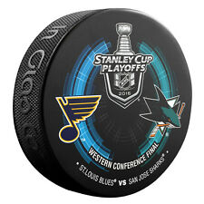 2016 Stanley Cup Playoffs Dueling Puck San Jose Sharks / St. Louis Blues