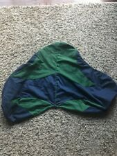 BLUE AND GREEN ENGLISH SADDLE COVER