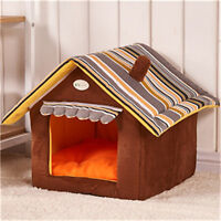 New Foldable Pet House Bed Dog Cat Pad Basket Soft Kennel Mat Warm Puppy Cushion