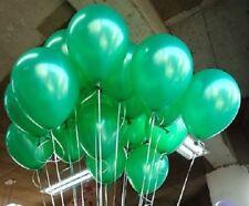 LOT DE 10 BALLONS VERT EMERAUDE NACRES Diam : 25 cm