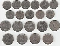 Jersey & Guernsey obsolete decimal coins: 5p,10 & 50p