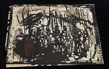 Pascal Cucaro 1960's Original Screenprint with Oil and Ink Embellishments