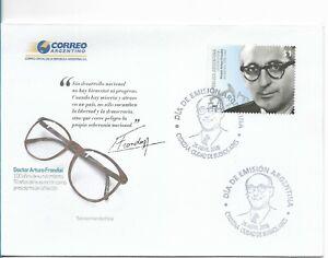ARGENTINA 2008 FDC DR. ARTURO FRONDIZI PRESIDENT POLITICIAN 1 VALUE COVER