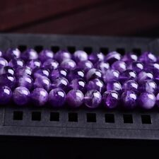 40PCS 4MM Smooth Natural Amethyst Round Loose Beads for Jewelry Making­­