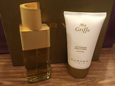 MA GRIFFE CARVEN EDP 100 ML / 3.3 OZ SPRAY GIFT SET 150 ML BODY LOTION BOX RARE
