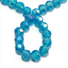 Lot of 50 pearls to FACES 4mm Crystal Bohemian Light blue Iridescent