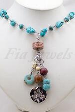Collana in turchese con pendente vintage americano Gioielli Artigianali Pietre