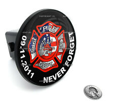 """2"""" Tow Hitch Receiver Plug Cover Insert For SUV's & Trucks - """"Firefighter"""""""