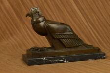 Handgefertigt Bronze Skulptur Falcon Adler Statue Figur Vogel Figur Tierwelt
