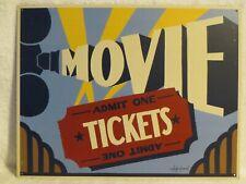 Admit One Tickets Movie Tin Metal Sign Marty Mummert 12.5 x 16 inch