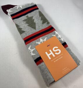 Happy Socks Men's Fun Dress 🎄Christmas Holiday Colorful Print Cotton 🧦