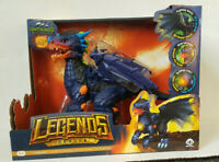 Untamed Legends Dragon Vulcan Interactive Blue Toy Lights Sound Glows New